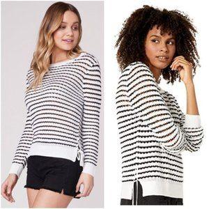 NWT BB Dakota Women's Spoiler Alert Stripe Sweater